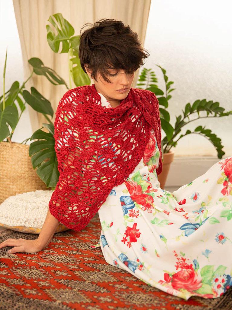 OTRORA_Chal lino y vestido vintage customizado